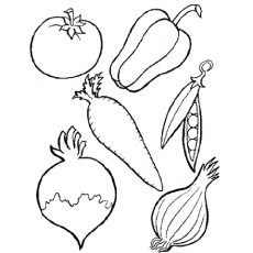 Vegetable coloring #17, Download drawings