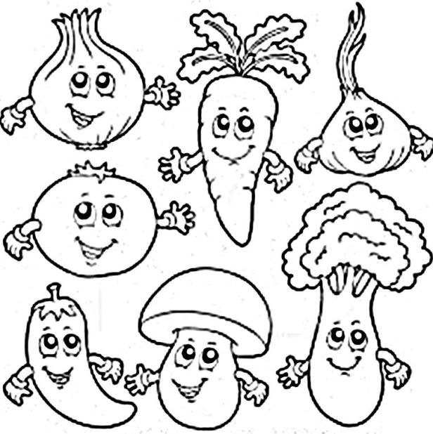 Vegetable coloring #9, Download drawings