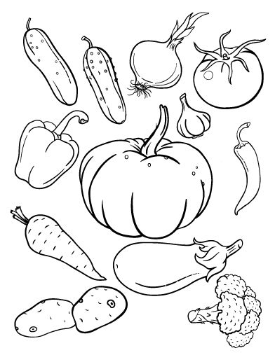 Vegetable coloring #12, Download drawings
