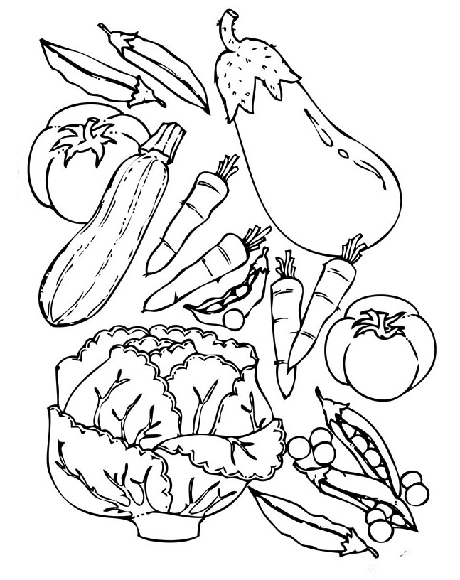 Vegetable coloring #13, Download drawings