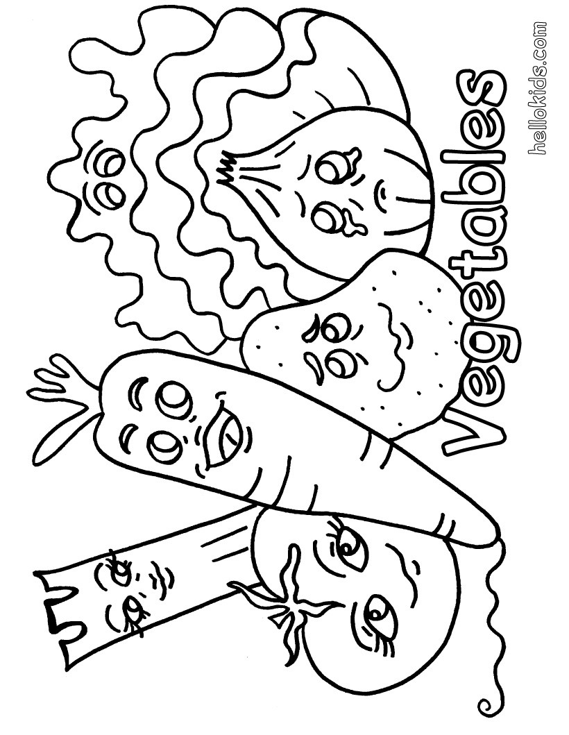 Vegetable coloring #14, Download drawings