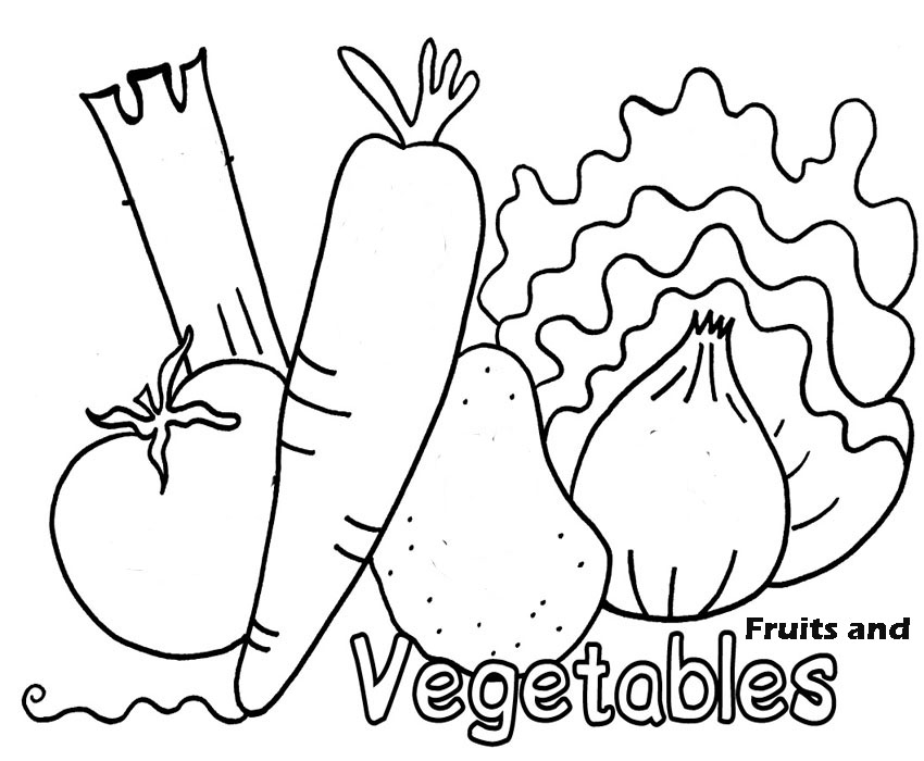 Vegetable coloring #1, Download drawings