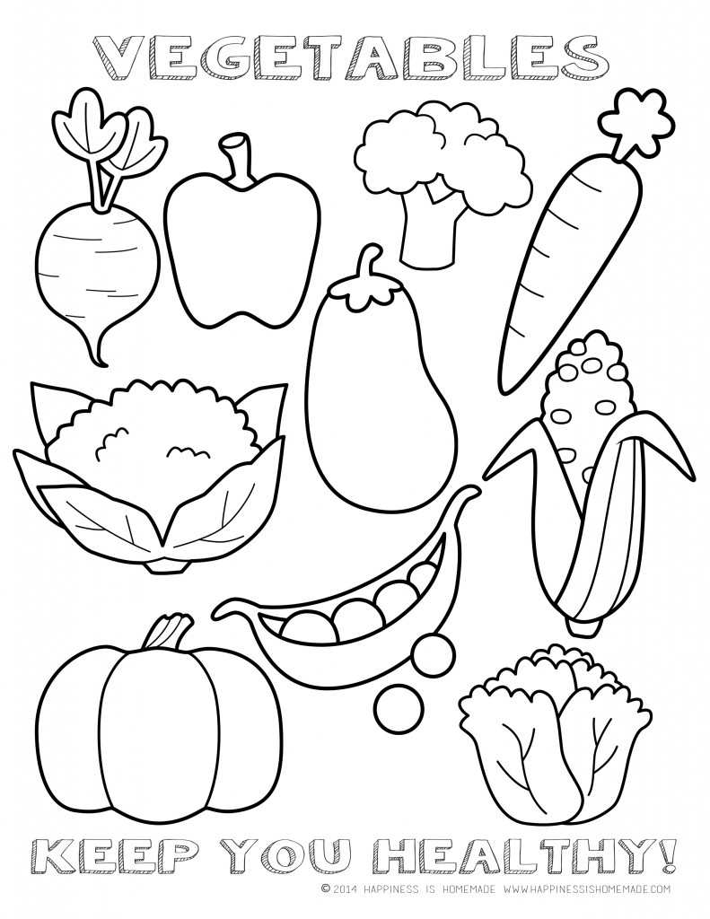 Vegetable coloring #5, Download drawings