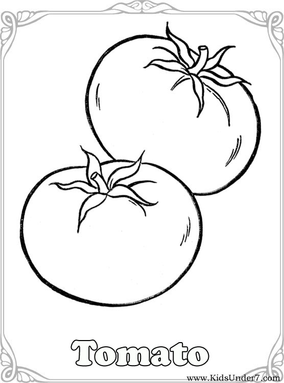 Vegetable coloring #4, Download drawings
