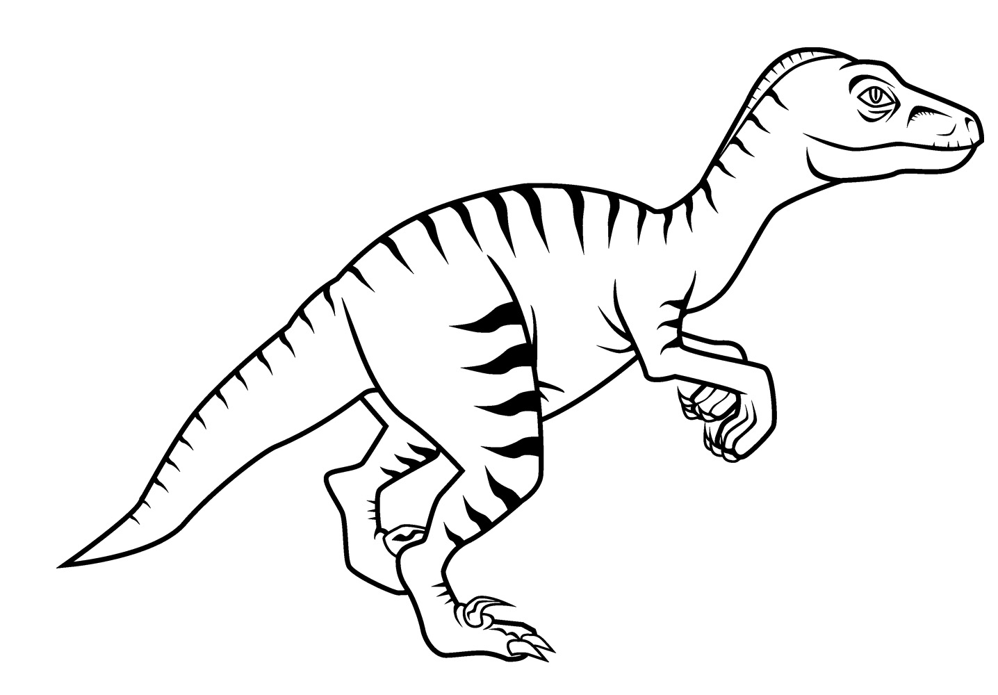Velociraptor coloring #12, Download drawings