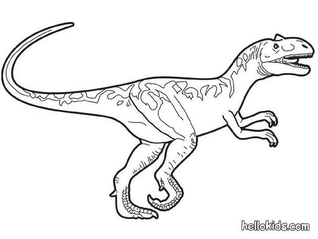 Velociraptor coloring #15, Download drawings