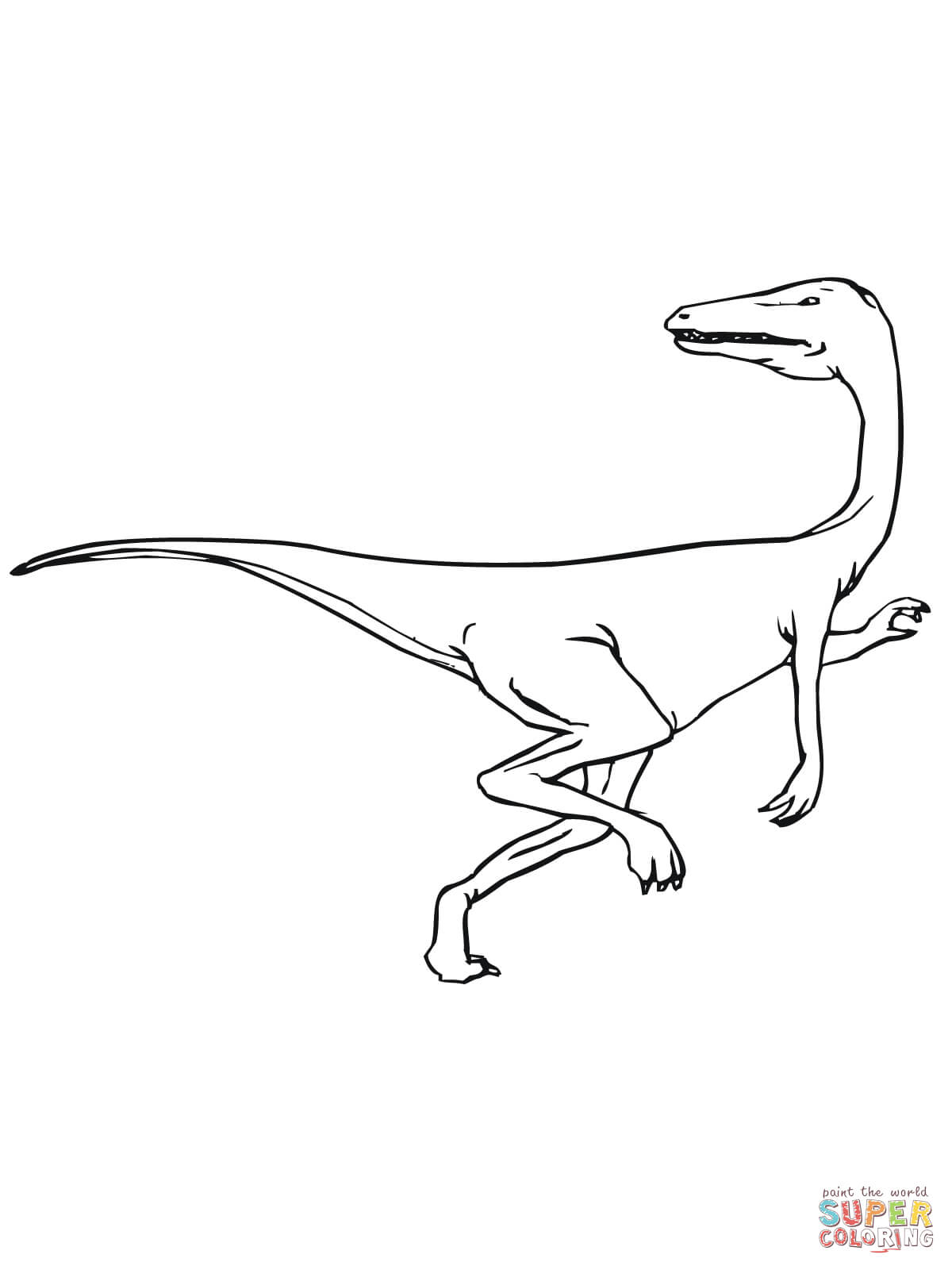 Velociraptor coloring #11, Download drawings