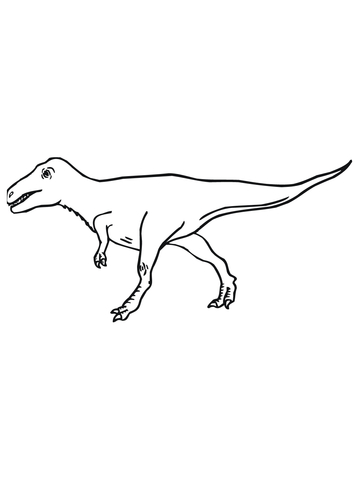 Velociraptor coloring #3, Download drawings
