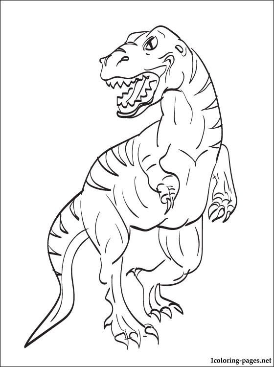 Velociraptor coloring #1, Download drawings
