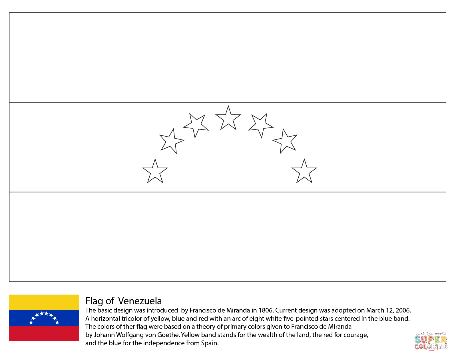 Venezuela coloring #16, Download drawings