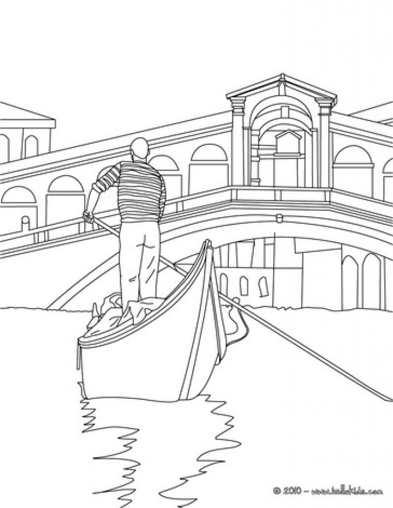 Venice coloring #10, Download drawings