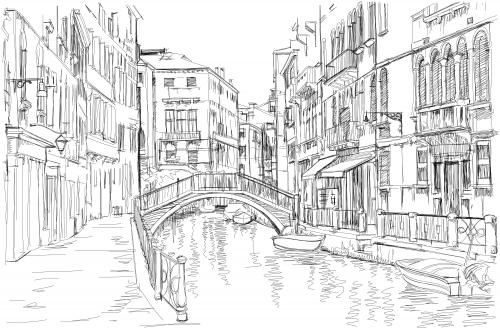 Venice coloring #14, Download drawings