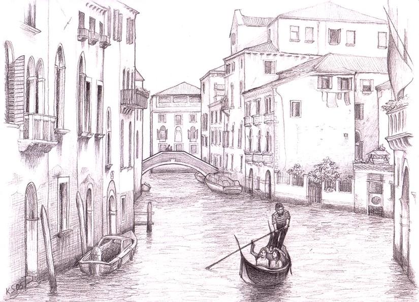 Venice coloring #2, Download drawings