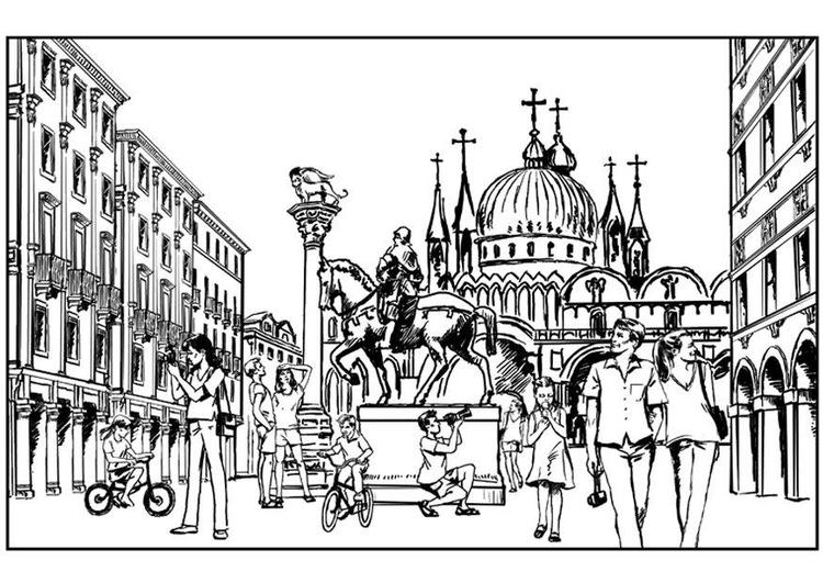 Venice coloring #1, Download drawings