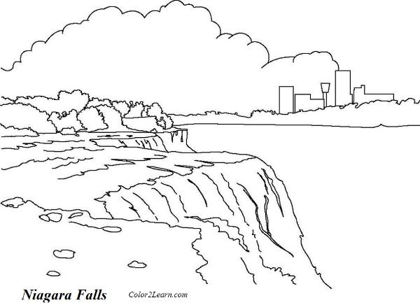 Victoria Falls coloring #11, Download drawings