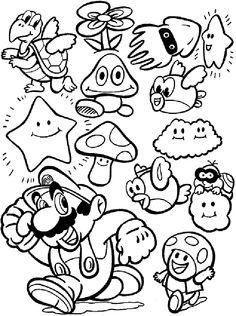 Video Game coloring #7, Download drawings