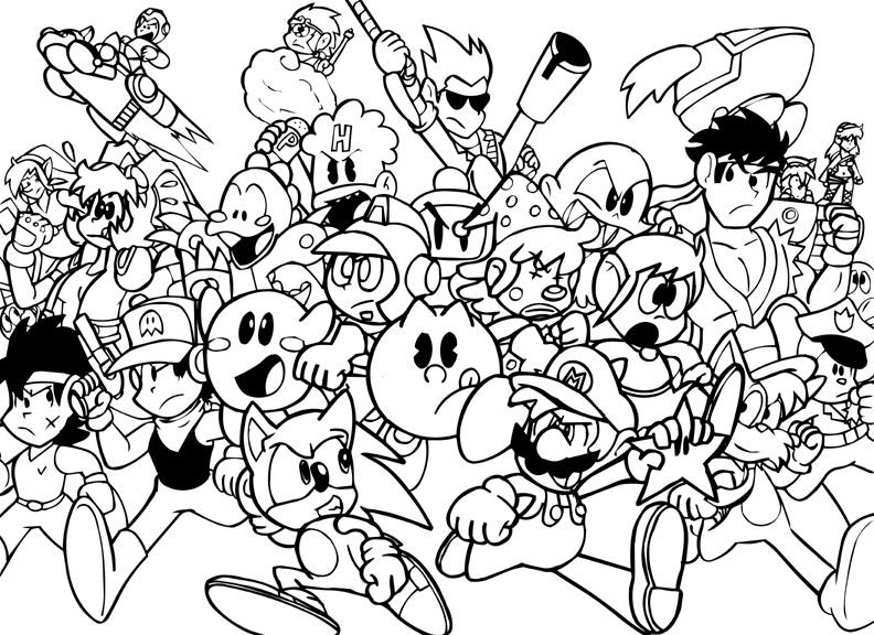 Video Game coloring #14, Download drawings
