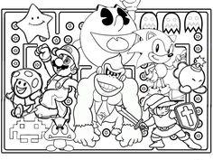 Video Game coloring #16, Download drawings