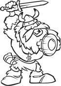 Viking coloring #2, Download drawings
