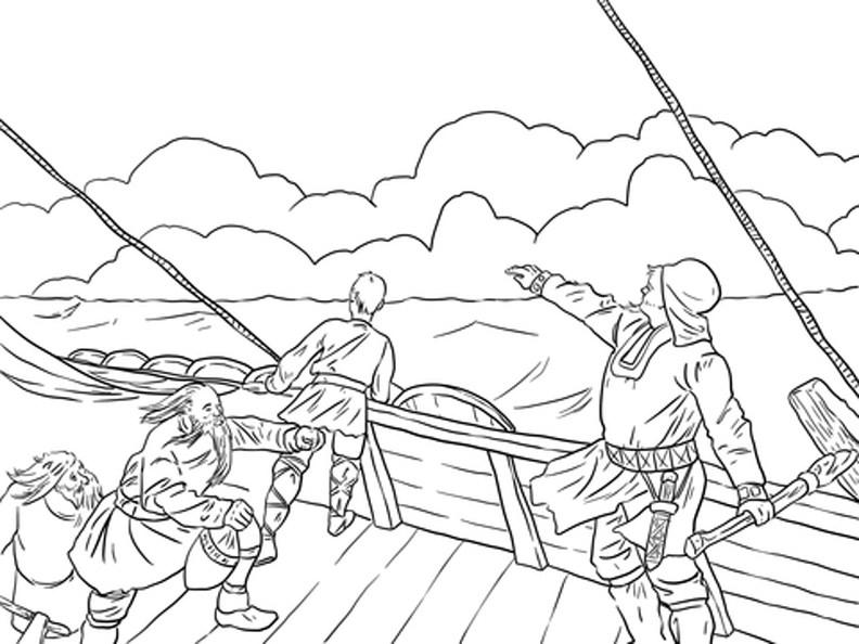 Viking coloring #17, Download drawings