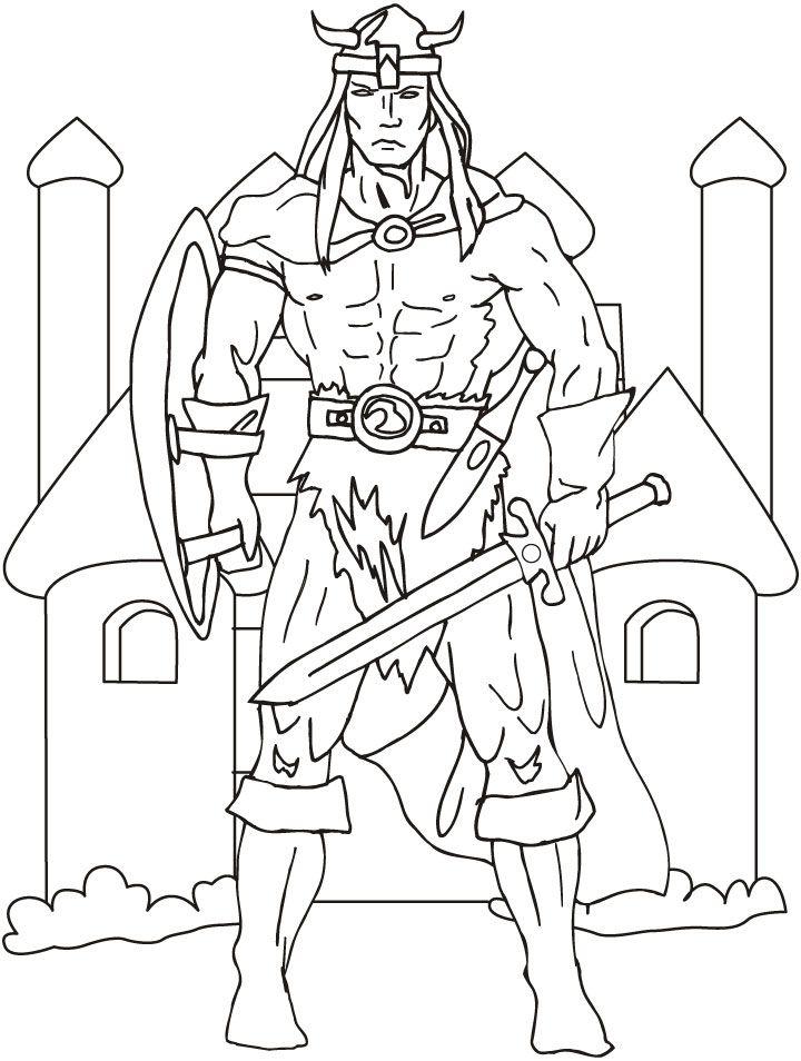 Viking coloring #12, Download drawings