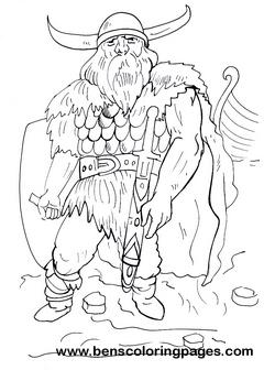 Viking coloring #8, Download drawings
