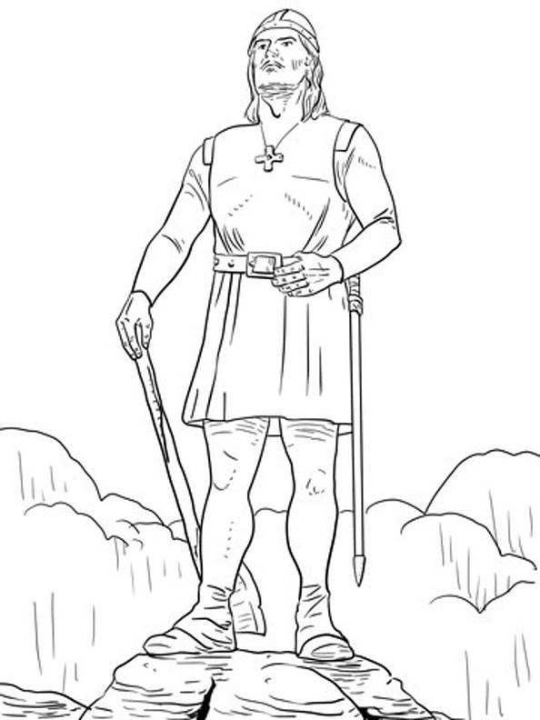Viking coloring #3, Download drawings