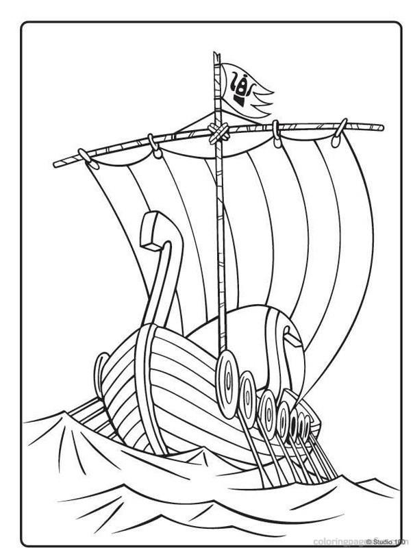 Viking Ship coloring #16, Download drawings