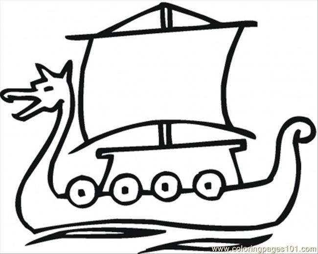 Viking Ship coloring #10, Download drawings