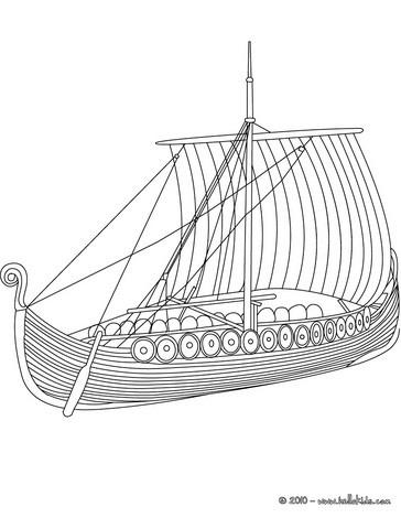 Viking Ship coloring #5, Download drawings