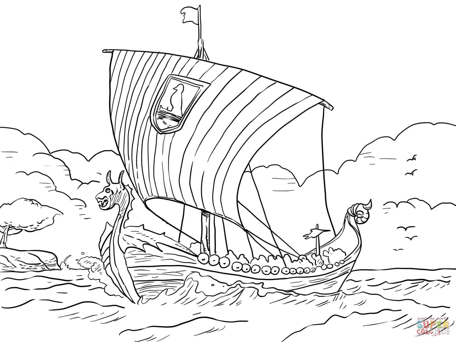 Viking Ship coloring #9, Download drawings