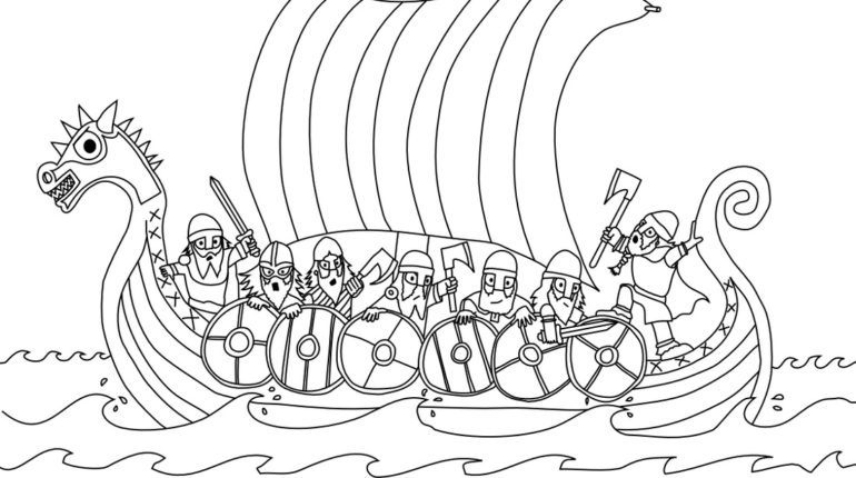 Viking Ship coloring #1, Download drawings
