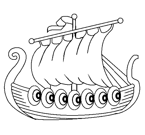 Viking Ship coloring #15, Download drawings