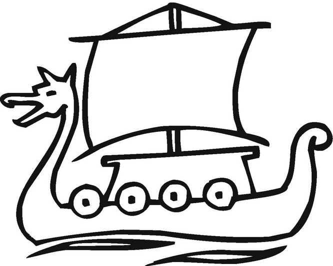 Viking Ship coloring #3, Download drawings