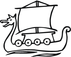 Viking Ship coloring #12, Download drawings