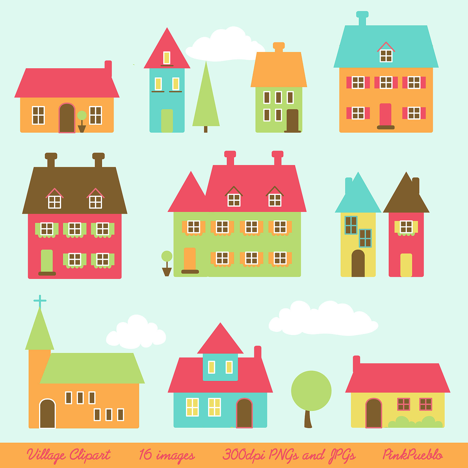 Village clipart #3, Download drawings