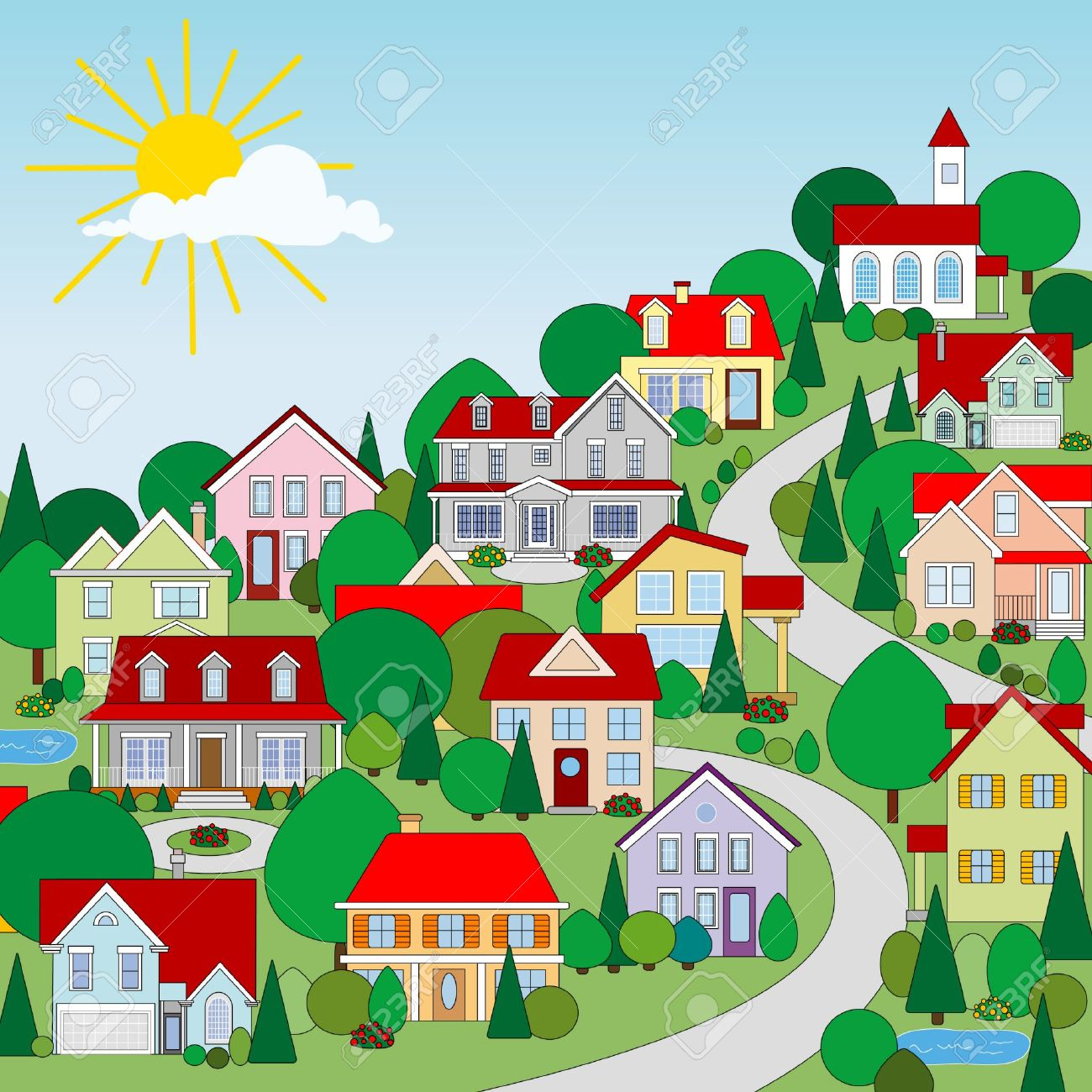 Village clipart #9, Download drawings