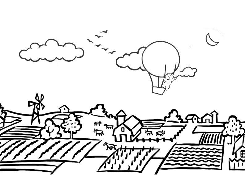Village coloring #15, Download drawings
