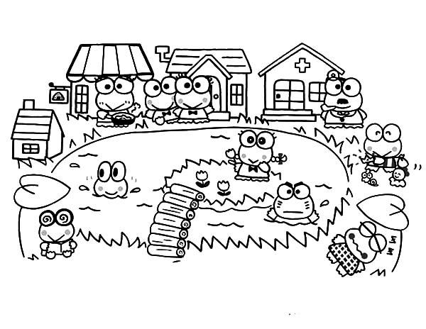 Village coloring #6, Download drawings