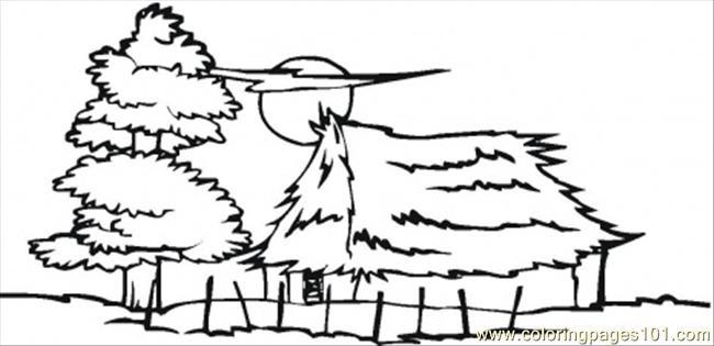 Village coloring #10, Download drawings