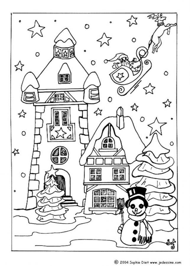 Village coloring #20, Download drawings