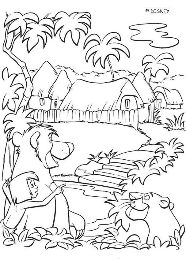 Village coloring #13, Download drawings