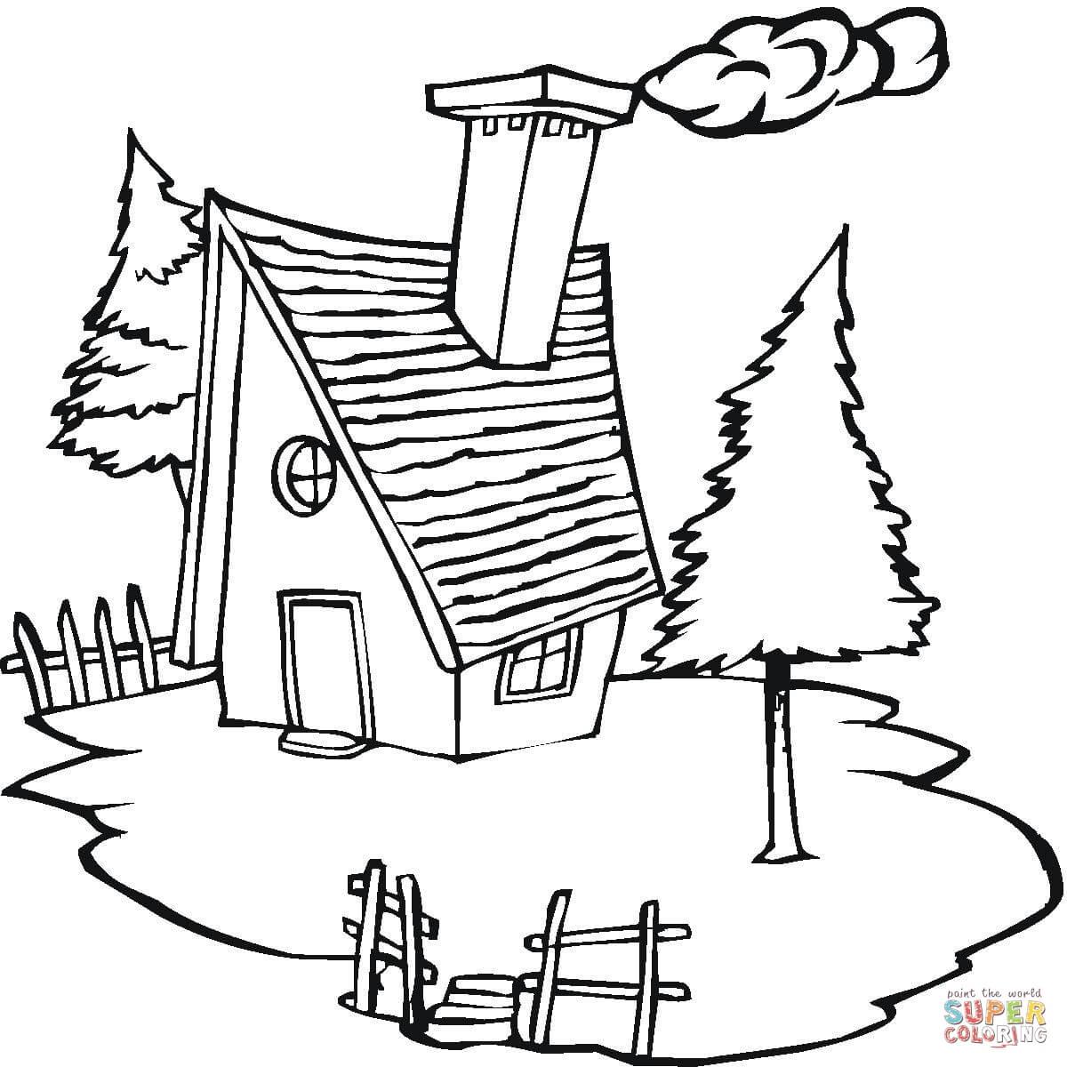 Village coloring #12, Download drawings