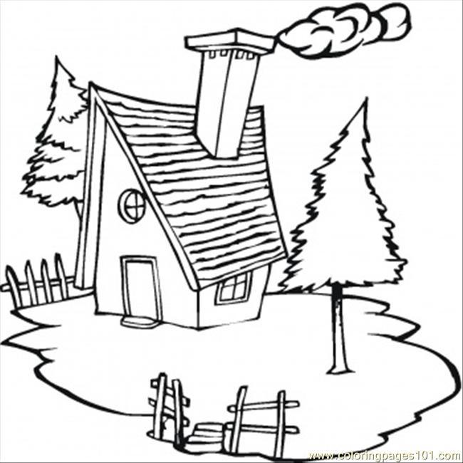 Village coloring #3, Download drawings
