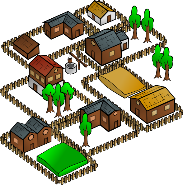 Village svg #1, Download drawings