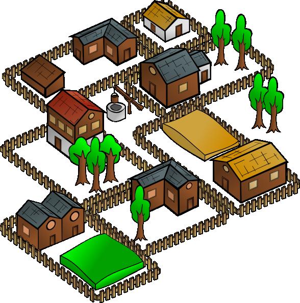 Village svg #1, Download drawings