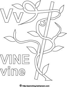 Vine coloring #9, Download drawings