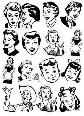 Vintage clipart #18, Download drawings