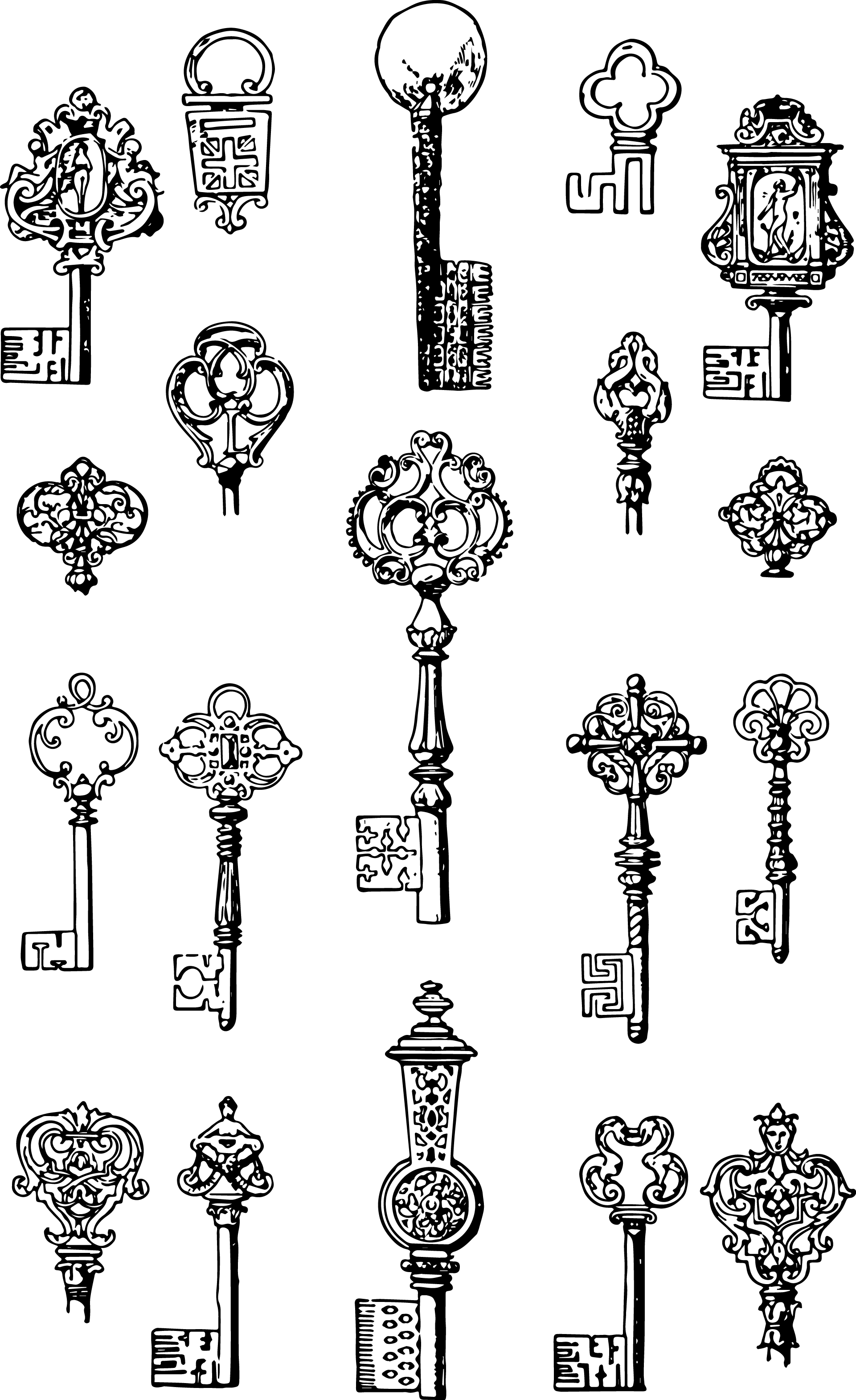 Vintage clipart #4, Download drawings