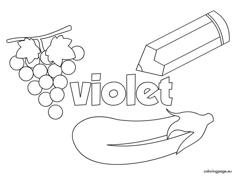 Violet coloring #7, Download drawings